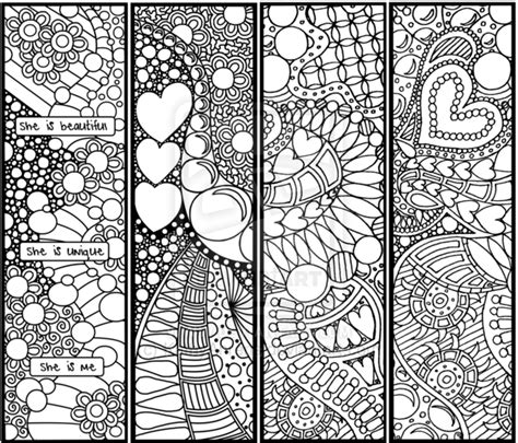 8 best images of bookmark adult coloring printables free