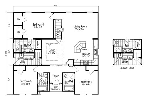The Tryon Manufactured Home Floor Plan Or Modular Floor Plans