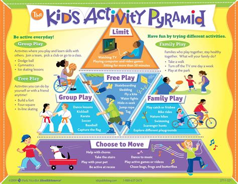 importance of physical activities tailor bird 390 | kids activity pyramid