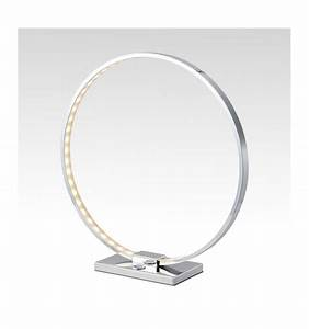 Lampe A Poser Design : lampe poser design chrome led collection circle ~ Dailycaller-alerts.com Idées de Décoration