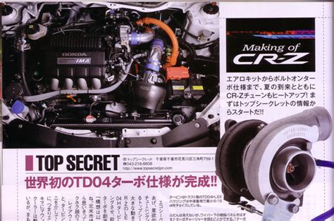 honda cr  turbo kit  development  top secret