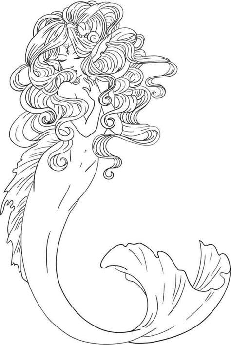 stunning mermaid coloring pages
