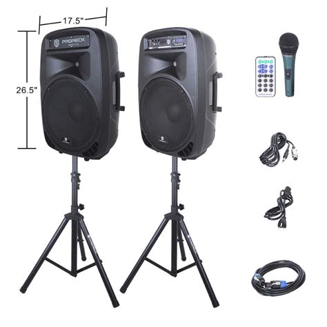 Best Speaker System For by Proreck Portable 2000w 15inch 2 Way Powered Pa Speaker