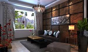 Wooden wall decoration art in chinese dining living room