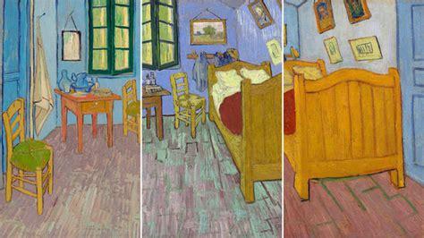 "Three Versions Of Van Gogh's ""bedroom"""