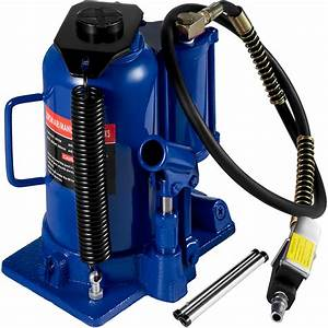 Air Hydraulic Bottle Jack 20 Ton Manual 44092lb Heavy Duty
