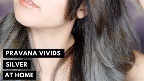 silver hair  home pravana chromasilk vivids silver
