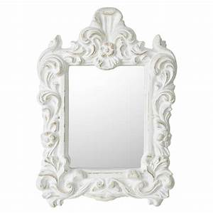 Miroir Blanc Baroque : miroir baroque blanc meubles et d coration amadeus au grenier de juliette ~ Teatrodelosmanantiales.com Idées de Décoration