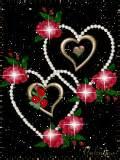 love heart rose animated mobile wallpaper