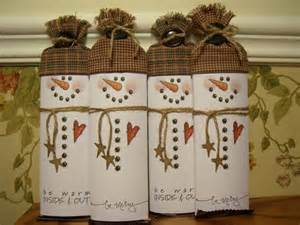 Hershey Candy Bar Snowman Pattern