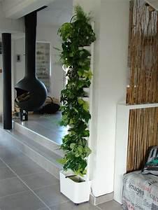 Plante Intérieur Grimpante : mur v g tal int rieur flowall flowall totem blanc avec plantes flowall interior garden ~ Louise-bijoux.com Idées de Décoration