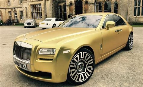matte gold rolls royce