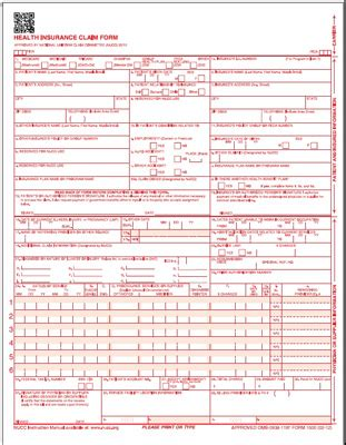 Cms1500 Health Insurance Claim Forms (version 0212