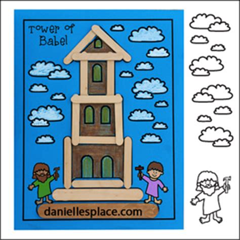 bible themes tower or babel 790 | tower babel craft stick craft pic2