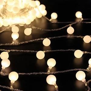 5M/ 16 4Ft Globe Ball Patio String Lights Fairy Warm White