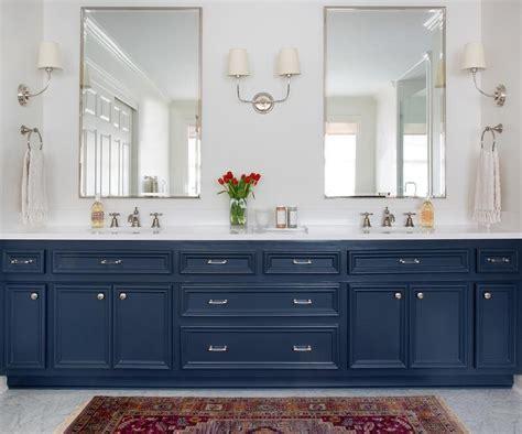 Blue Bathroom Cabinets by Navy Blue Bath Vanity With Submarine Medicine Cabinet