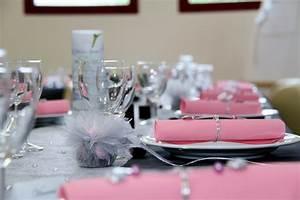 Deco Table Rose Et Gris : mariage d coration de table gris rose et blanc ~ Melissatoandfro.com Idées de Décoration