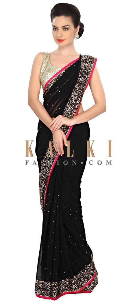 black saree blouse best 25 black saree ideas on black saree