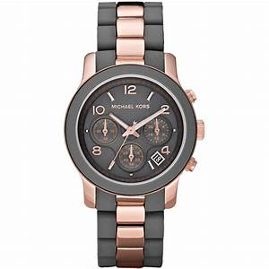 Michael Kors MK5465 Women's Two Tone Chronograph Watch ...