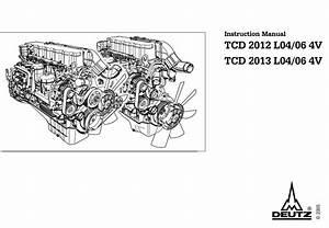 Deutz Engine Tcd 2013 L04  06 4v Instruction Manual  0312