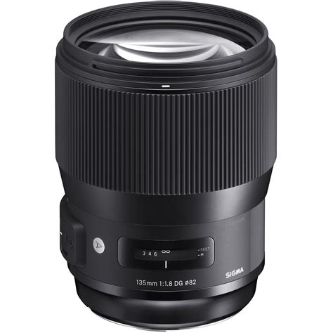 sigma 135mm f 1 8 dg hsm lens for canon ef 240954 b h