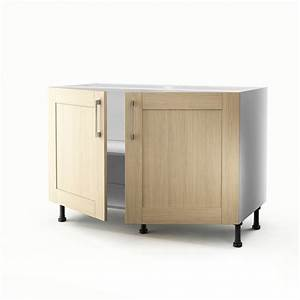 Meuble Sous Evier 120 : meuble de cuisine sous vier ch ne clair 2 portes cyclone ~ Nature-et-papiers.com Idées de Décoration