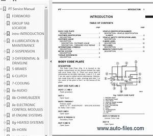 Chrysler Pt Cruiser Service Manual 2001