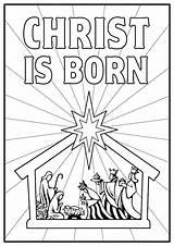 Jesus Coloring Birth Pages Printable Getcolorings sketch template