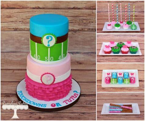 touchdowns  tutus gender reveal cakes cake