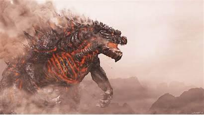 Godzilla 4k Fire Shin Wallpapers King Monster