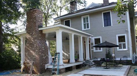 Build Back Porch by Building A Back Porch Addition On A Historic Home Today