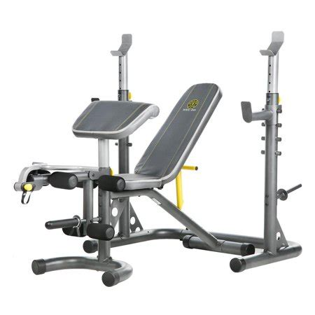 bench for working out gold s xrs 20 olympic workout bench with squat rack