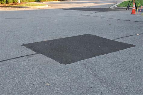 asphalt repair zebra striping
