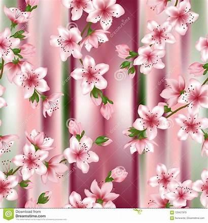 Blossom Cherry Sakura Tree Japanese Pattern Branches