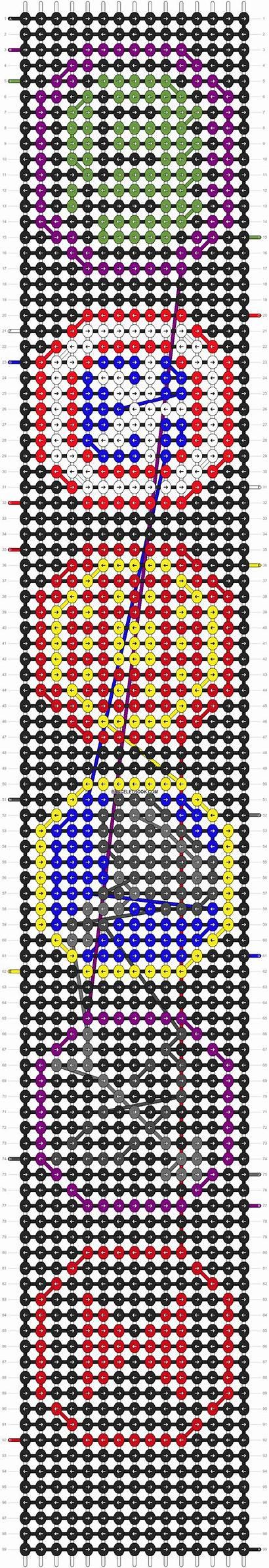Alpha Patterns Pattern Bracelets Bracelet Friendship Braceletbook