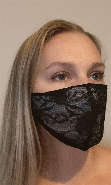 Formal Black Lace Face Mask