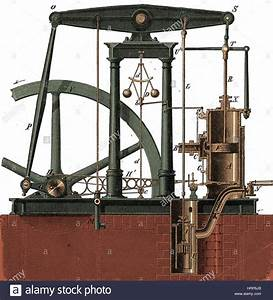 Watts Steam Engine  18th Century Stock Photo  Royalty Free