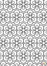 Coloring Pattern Flower Pages Abstract Printable Colouring Colour Drawing Sheets Adult Supercoloring Fun Adults Cool Paper Mandala Dot Getdrawings Categories sketch template