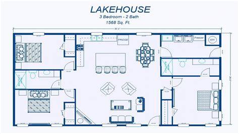 simple  bedroom house floor plans simple  bedroom house plans lake homes floor plans