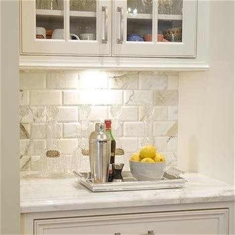 calcutta gold marble backsplash contemporary kitchen