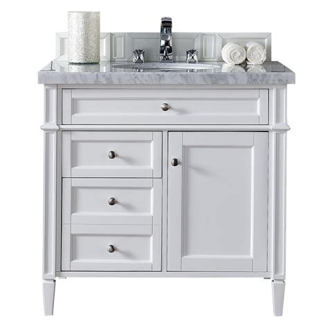 36 white vanity cabinet james martin signature vanities brittany 36 in w single