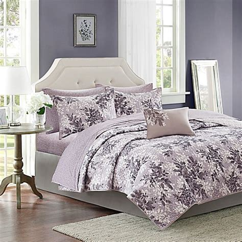 Lavender Coverlet by Park Shelby Coverlet Set In Lavender Grey Bed