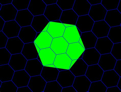 geometric visualization  hexagonal hierarchies