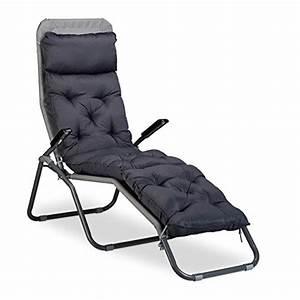 Chaise Longue Balcon : relaxdays matelas coussin de chaise longue de jardin fauteuil terrasse balcon ebay ~ Teatrodelosmanantiales.com Idées de Décoration