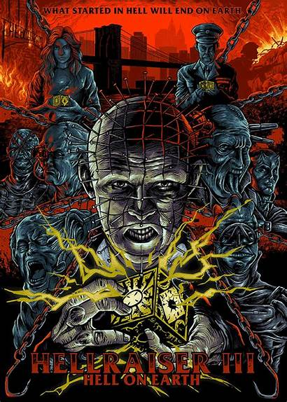 Hellraiser Hell Earth Iii Horror Poster Rahmat