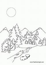 Coloring Mountains Rocky Pages Library Clipart Coloringhome sketch template