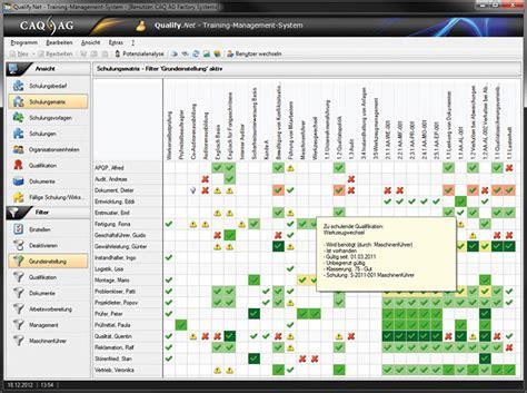 caq software schulungsmanagement planung verwaltung