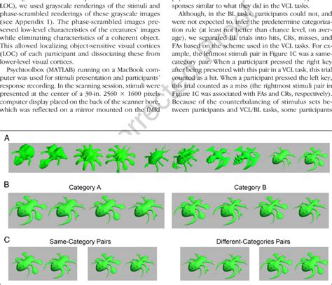 Stimuli examples (see also Appendix 1). (A) Stimuli examples from five...   Download Scientific ...