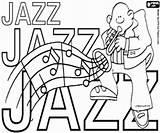 Jazz Coloring Dia Colorir Sheets Pintar Musica International Template Mundial Internacional Desenhos Imprimir Musik sketch template