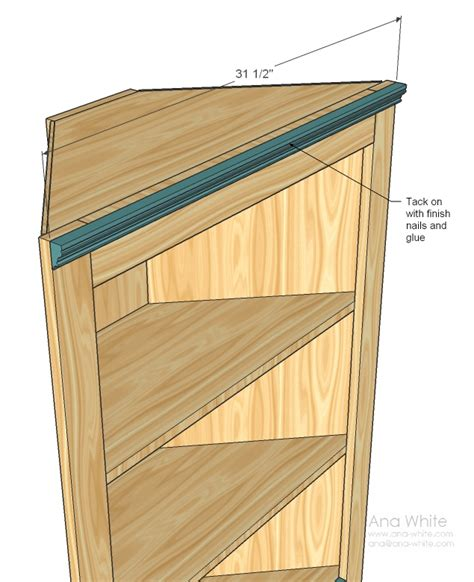 how to build a corner cabinet for a tv ana white corner cupboard diy projects